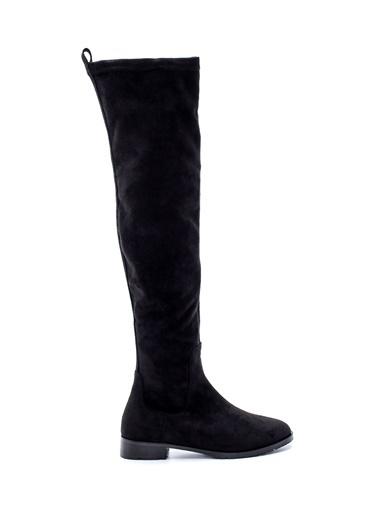 Derimod Kadın Çizme (19605) Casual Siyah